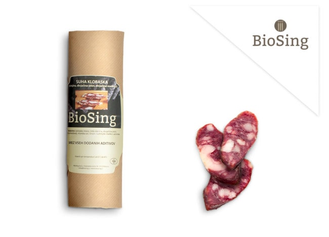 Divjacinska klobaska Biosing skupek